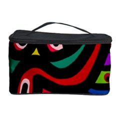 A Seamless Crazy Face Doodle Pattern Cosmetic Storage Case by Amaryn4rt
