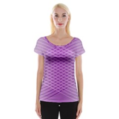 Abstract Lines Background Women s Cap Sleeve Top