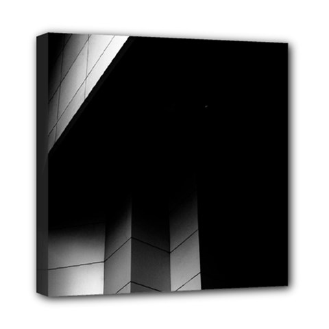 Wall White Black Abstract Mini Canvas 8  X 8  by Amaryn4rt