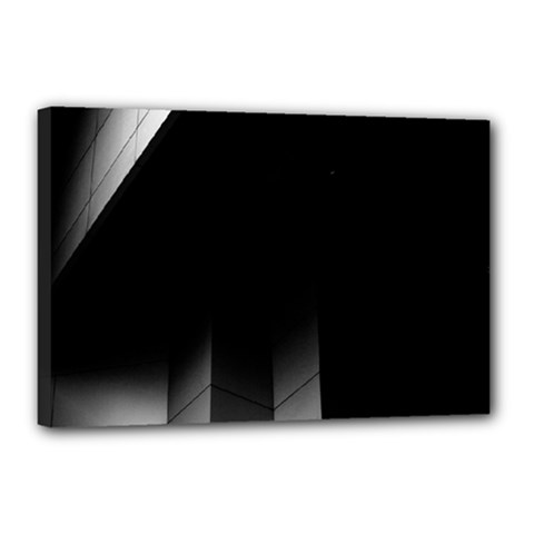 Wall White Black Abstract Canvas 18  X 12  by Amaryn4rt