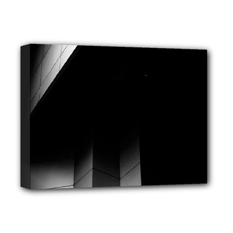 Wall White Black Abstract Deluxe Canvas 16  X 12   by Amaryn4rt