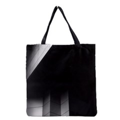 Wall White Black Abstract Grocery Tote Bag by Amaryn4rt