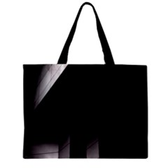 Wall White Black Abstract Zipper Mini Tote Bag by Amaryn4rt