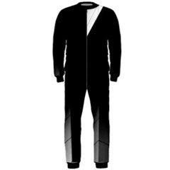 Wall White Black Abstract Onepiece Jumpsuit (men)