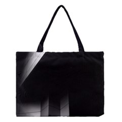 Wall White Black Abstract Medium Tote Bag by Amaryn4rt