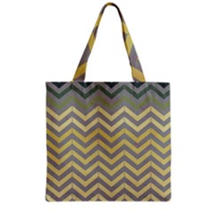 Abstract Vintage Lines Grocery Tote Bag by Amaryn4rt