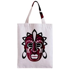 Mask Zipper Classic Tote Bag by Valentinaart