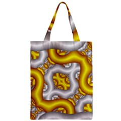 Fractal Background With Golden And Silver Pipes Zipper Classic Tote Bag by Amaryn4rt