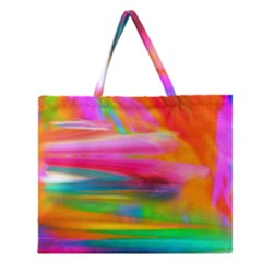 Abstract Illustration Nameless Fantasy Zipper Large Tote Bag by Amaryn4rt