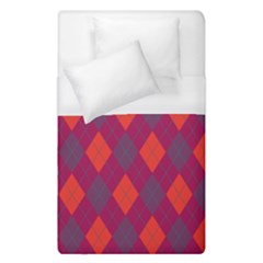 Plaid Pattern Duvet Cover (single Size) by Valentinaart