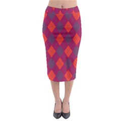 Plaid Pattern Midi Pencil Skirt by Valentinaart