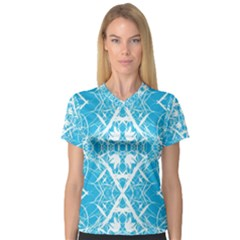 Pattern Women s V Neck Sport Mesh Tee by Valentinaart