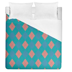 Plaid Pattern Duvet Cover (queen Size) by Valentinaart