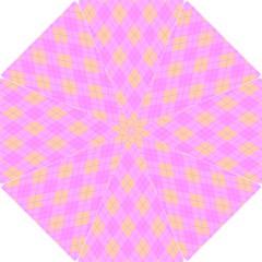 Plaid Pattern Hook Handle Umbrellas (small) by Valentinaart
