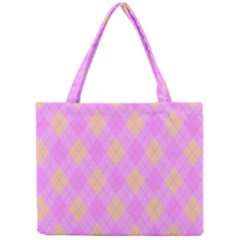 Plaid Pattern Mini Tote Bag by Valentinaart