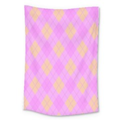 Plaid Pattern Large Tapestry by Valentinaart