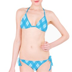 Plaid Pattern Bikini Set