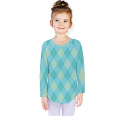 Plaid Pattern Kids  Long Sleeve Tee by Valentinaart