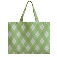 Plaid Pattern Zipper Mini Tote Bag by Valentinaart