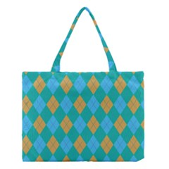 Plaid Pattern Medium Tote Bag by Valentinaart