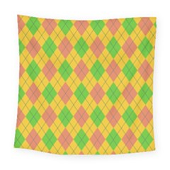 Plaid Pattern Square Tapestry (large) by Valentinaart
