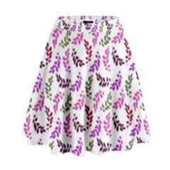 Pattern High Waist Skirt by Valentinaart