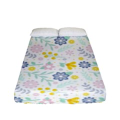 Vintage Spring Flower Pattern  Fitted Sheet (full/ Double Size) by TastefulDesigns