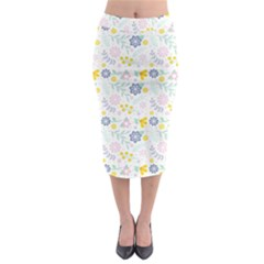 Vintage Spring Flower Pattern  Midi Pencil Skirt by TastefulDesigns