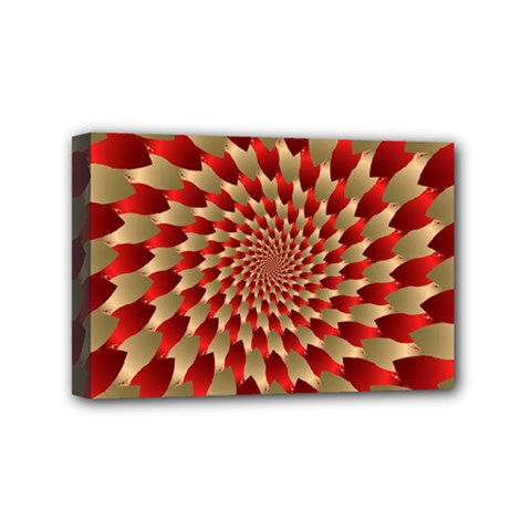 Fractal Red Petal Spiral Mini Canvas 6  X 4  by Amaryn4rt