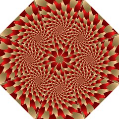 Fractal Red Petal Spiral Straight Umbrellas by Amaryn4rt