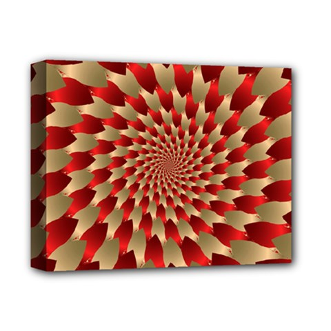 Fractal Red Petal Spiral Deluxe Canvas 14  X 11  by Amaryn4rt