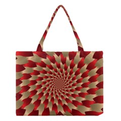 Fractal Red Petal Spiral Medium Tote Bag by Amaryn4rt