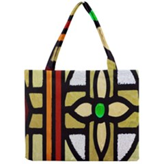 A Detail Of A Stained Glass Window Mini Tote Bag by Amaryn4rt