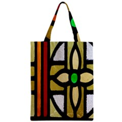 A Detail Of A Stained Glass Window Zipper Classic Tote Bag by Amaryn4rt