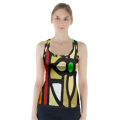 A Detail Of A Stained Glass Window Racer Back Sports Top by Amaryn4rt