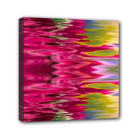 Abstract Pink Colorful Water Background Mini Canvas 6  X 6  by Amaryn4rt