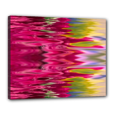 Abstract Pink Colorful Water Background Canvas 20  X 16  by Amaryn4rt
