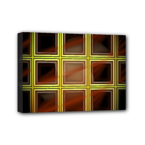 Drawing Of A Color Fractal Window Mini Canvas 7  X 5  by Amaryn4rt