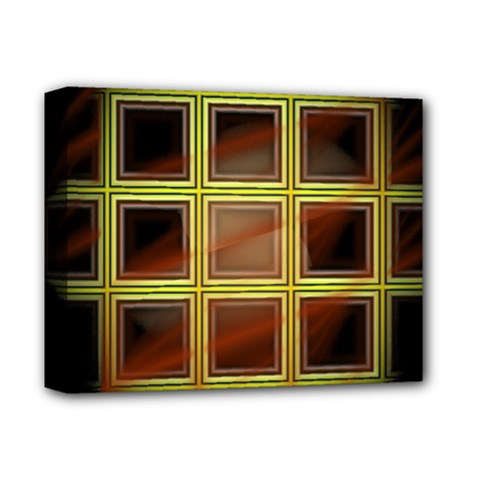 Drawing Of A Color Fractal Window Deluxe Canvas 14  X 11  by Amaryn4rt