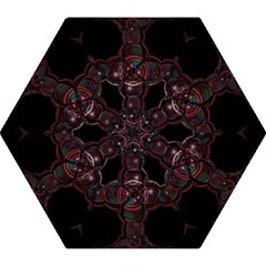 Fractal Red Cross On Black Background Mini Folding Umbrellas by Amaryn4rt