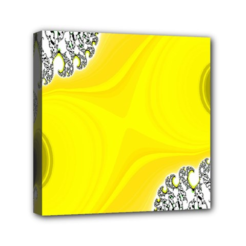 Fractal Abstract Background Mini Canvas 6  X 6  by Amaryn4rt