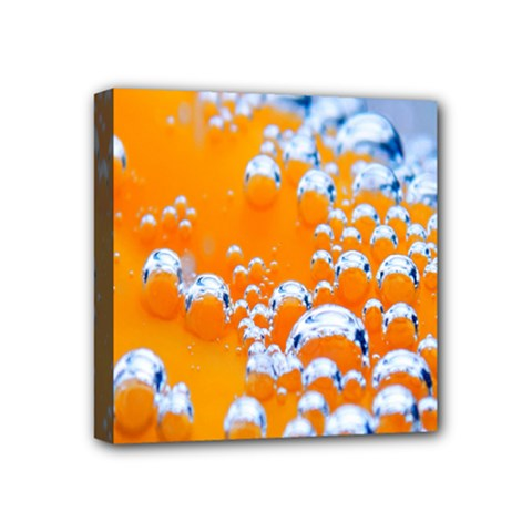 Bubbles Background Mini Canvas 4  X 4  by Amaryn4rt