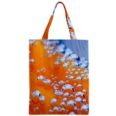 Bubbles Background Zipper Classic Tote Bag by Amaryn4rt