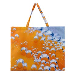 Bubbles Background Zipper Large Tote Bag by Amaryn4rt