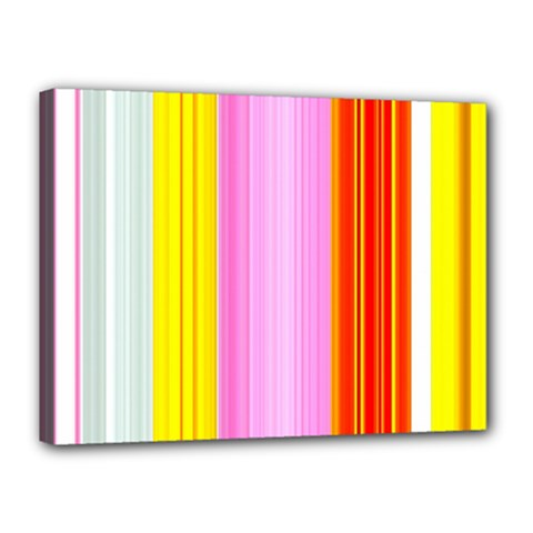 Multi Colored Bright Stripes Striped Background Wallpaper Canvas 16  X 12  by Amaryn4rt