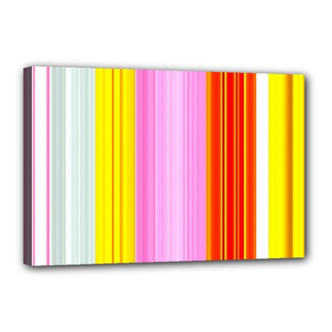 Multi Colored Bright Stripes Striped Background Wallpaper Canvas 18  X 12  by Amaryn4rt