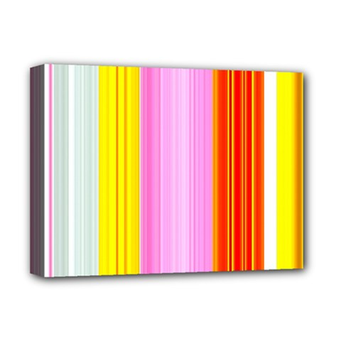 Multi Colored Bright Stripes Striped Background Wallpaper Deluxe Canvas 16  X 12   by Amaryn4rt
