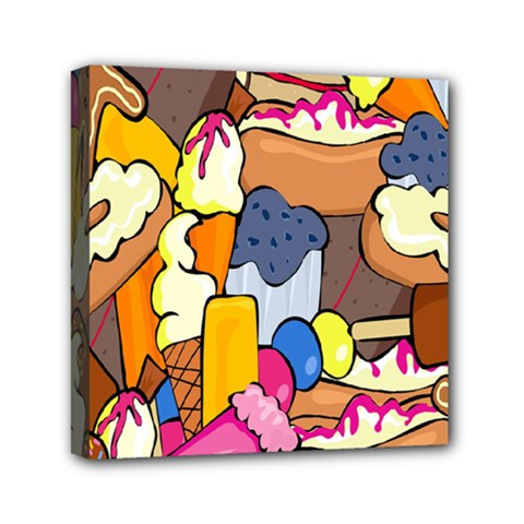 Sweet Stuff Digitally Created Sweet Food Wallpaper Mini Canvas 6  X 6  by Amaryn4rt