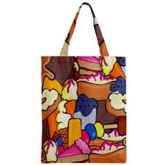 Sweet Stuff Digitally Created Sweet Food Wallpaper Zipper Classic Tote Bag by Amaryn4rt