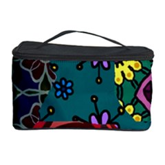 Digitally Created Abstract Patchwork Collage Pattern Cosmetic Storage Case by Amaryn4rt